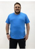 Camiseta Plus Size Masculina Cobra D'agua Marca Registrada - Azul céu