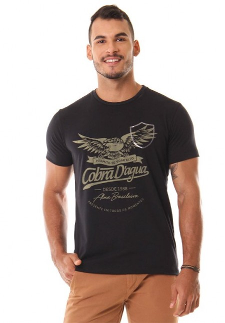 Camiseta Cobra D'agua Águia - Preto