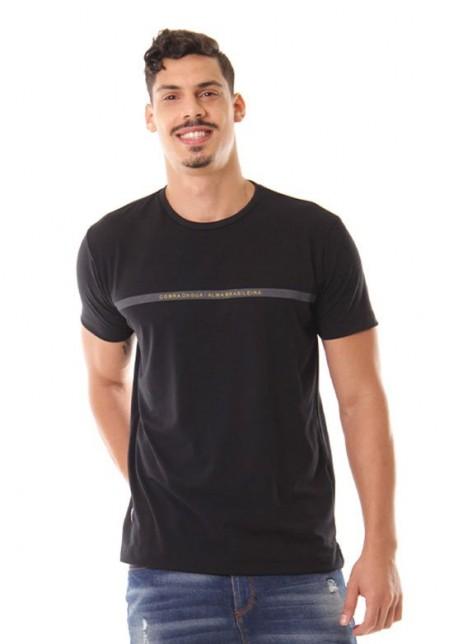 Camiseta Cobra D'agua Casual CDA - Preto