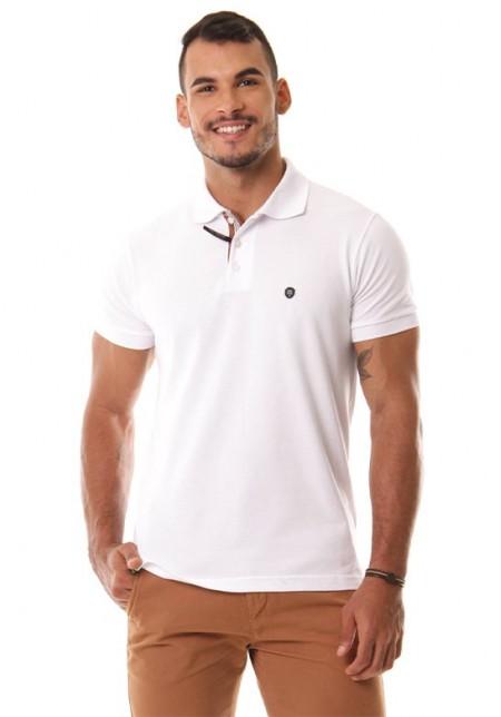 Camisa Polo Cobra D'agua Classico - Branco