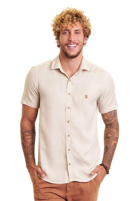 Camisa de Botão Cobra D'agua Combinação Perfeita - Off White